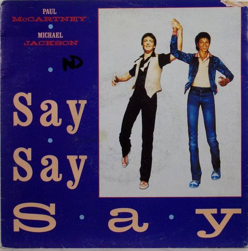 VINYL45T mc cartney jackson say say say 1983