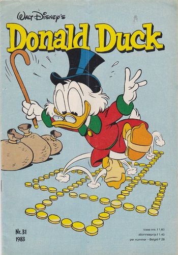 BD donald duck N°31 1983 Allemand