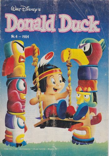 BD donald duck N°4 1984 Allemand