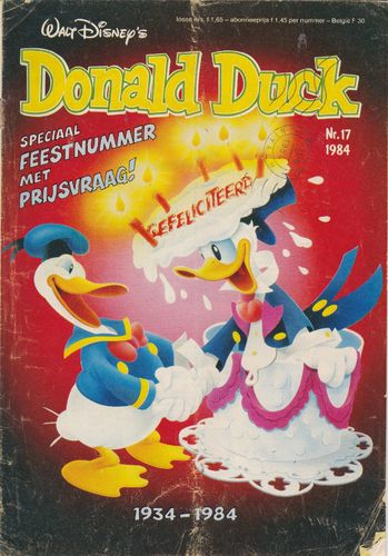 BD donald duck N°17 1984 Allemand