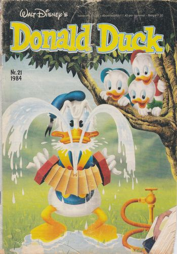 BD donald duck N°21 1984 Allemand