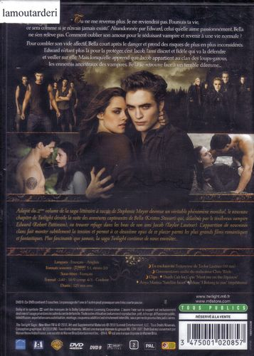 DVD twilight chapitre 2 tentation Chris Weitz 2010