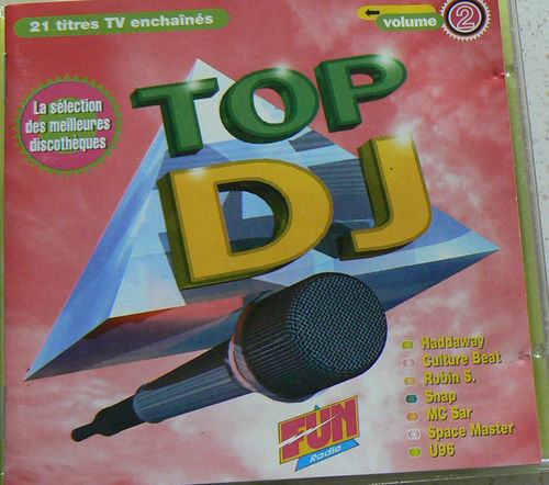 CD top dj vol 2 fun radio 1993