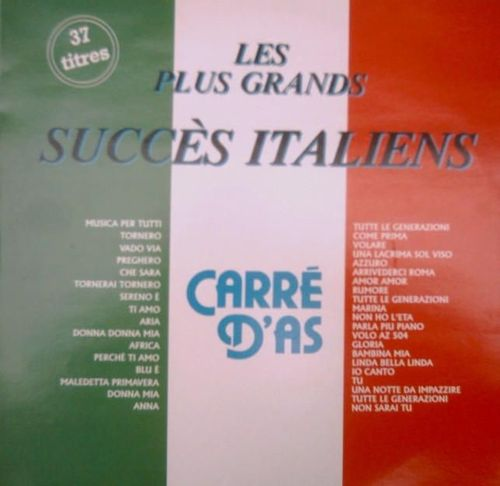 VINYL 33 T les plus grands succés italiens carré d'as