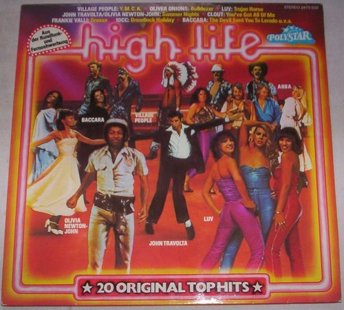 VINYL 33 T high life 20 original top hits polystar 1979