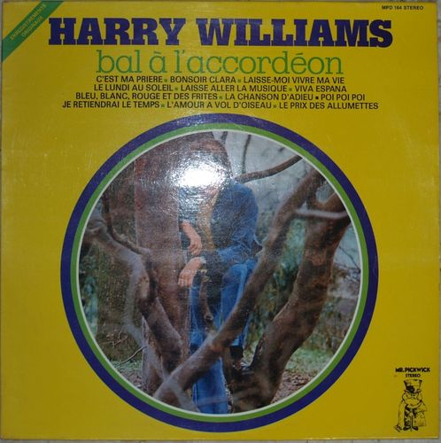 VINYL 33 T harry williams bal à l'acordéon 1974