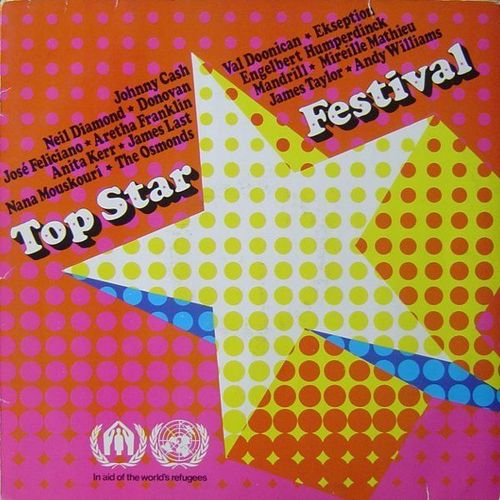 VINYL 33T top star festival in aid of the world's refugees1971