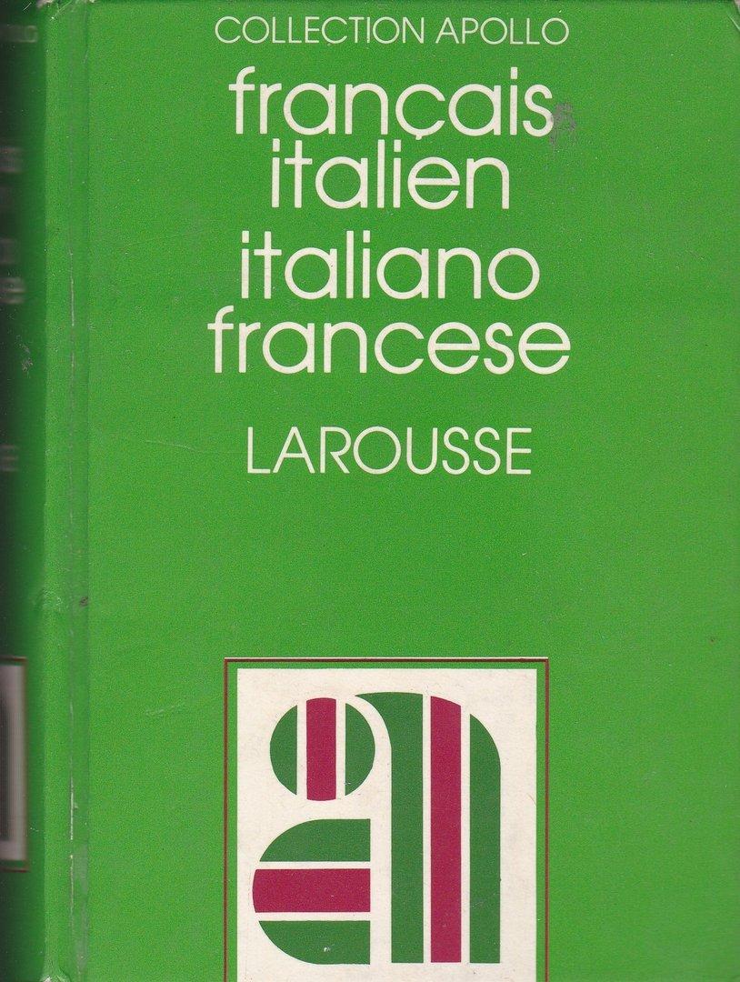 Livre Dictionnaire Francais Italien Larousse 1983