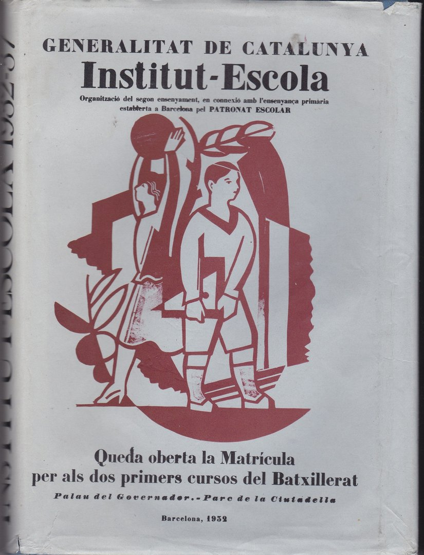 LIVRE butlleti institut escola (reproduction de 1932) (en catalan)1977