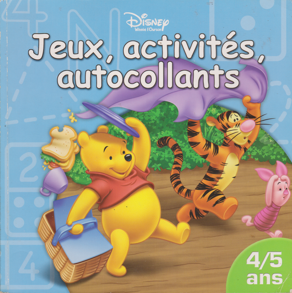 Livre Winnie L Ourson Jeux Activite Auto Collants Disney 2005