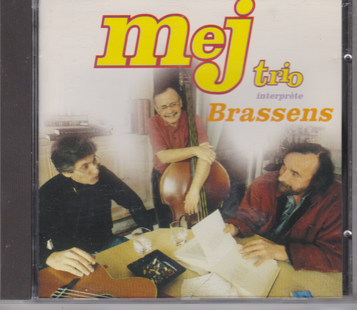 CD mej trio interprete brassens 1996