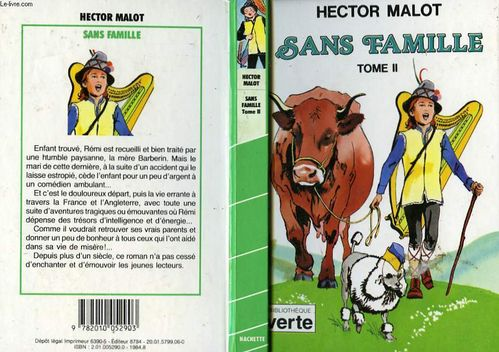 LIVRE Hector Malot Sans famille tome 2