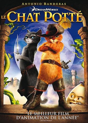 DVD le chat potté dreamworks 2011