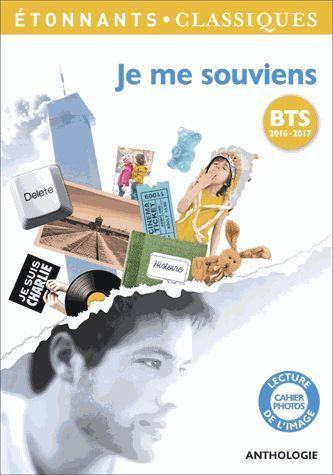 Livre Bts 2016 2017 Je Me Souviens Anthologie Elise Chedeville 2015