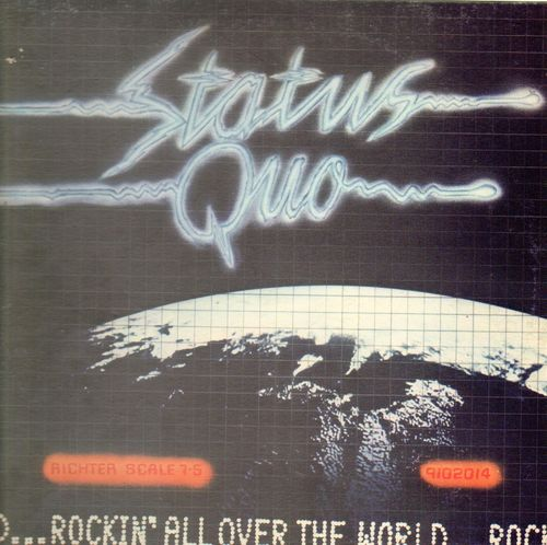 VINYL 33 T status quo rockin' all over the world 1977