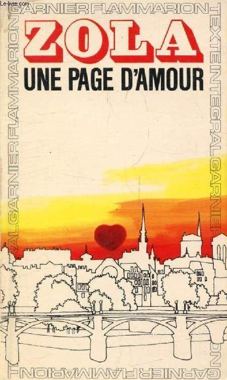 Livre Zola Une Page D Amour 1973
