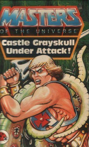 LIVRE masters of the universe castle grayskull under attack 1984