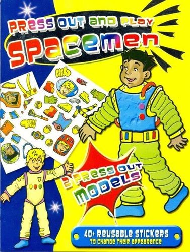 LIVRE spacemen press out and play stickers 2005