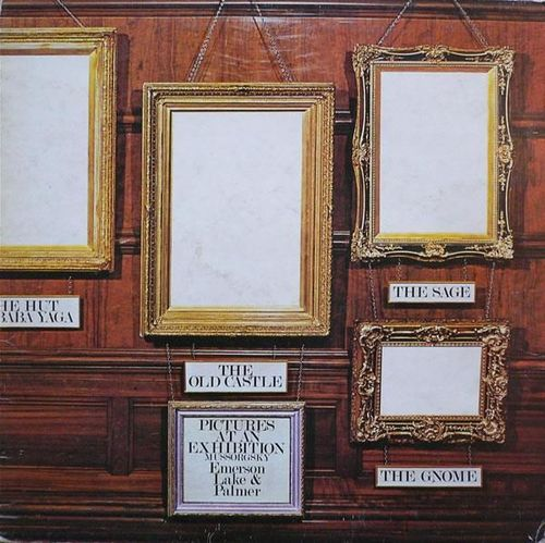 VINYL 33T emerson lake & palmer pictures at an exhibition 1971
