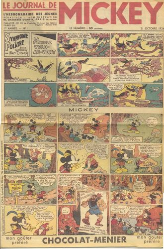 BD Le journal de mickey 1934 N°1 (fac similé)