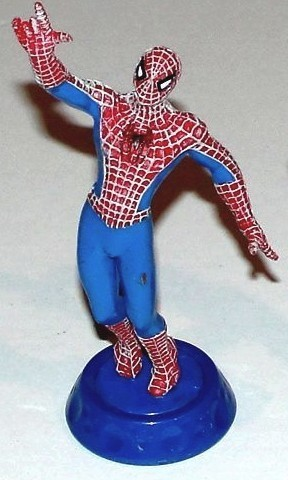 FIGURINE spiderman sur socle marvel (11 ctm)