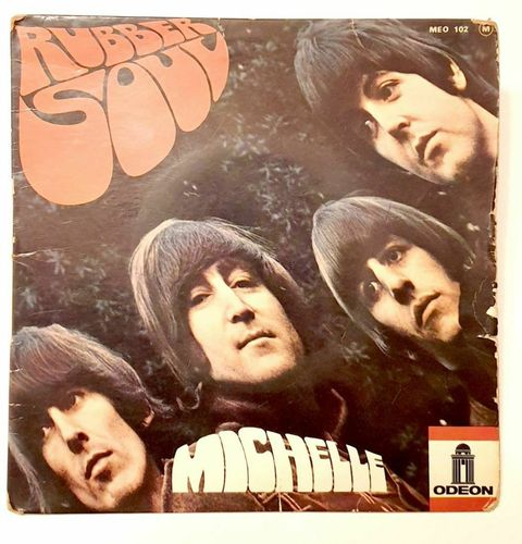 VINYL 45 T beatles rubber soul 1965 (france) EO