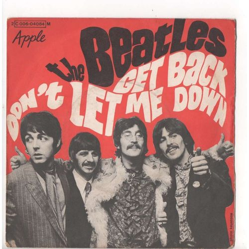 VINYL 45 T beatles get back 1969 (france) EO