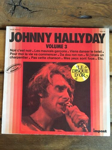 VINYL 33 T johnny hallyday le disque d'or volume 3 1980